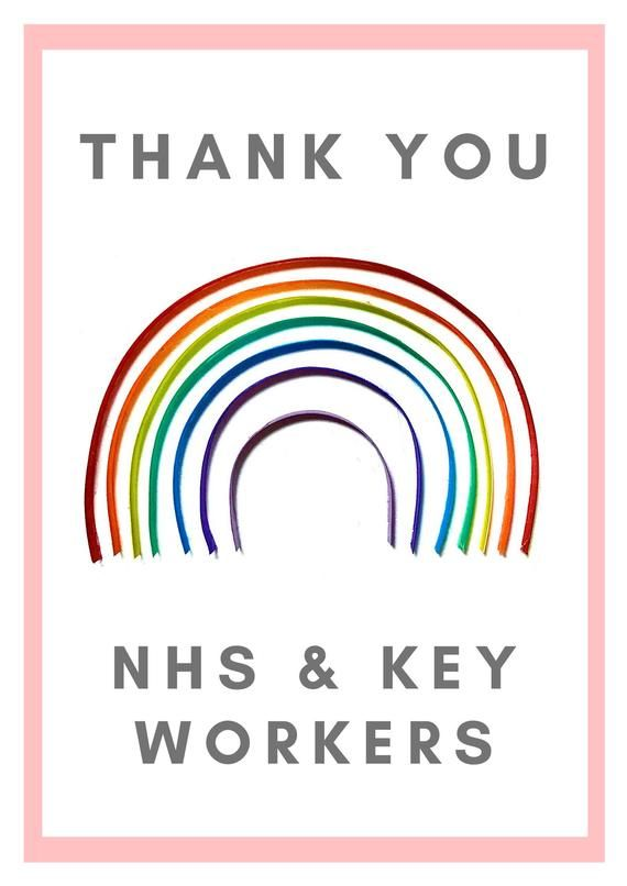 Thank You Nhs Rainbow Poster Print Thank You Poster Nhs Poster Prints
