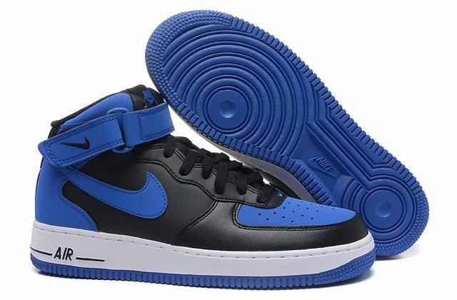 chaussure de ville nike homme,air force 1 mid noir et bleu | Nike ...