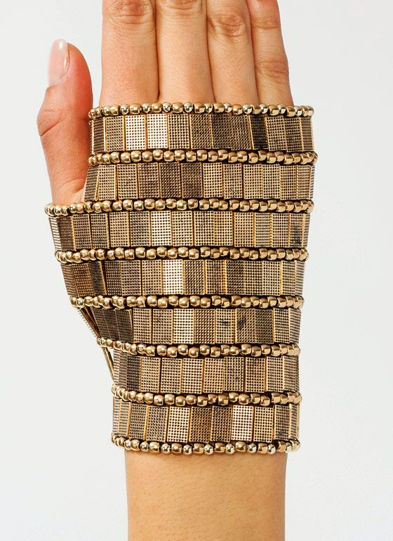 Fingerless metal glove | The House of Beccaria #