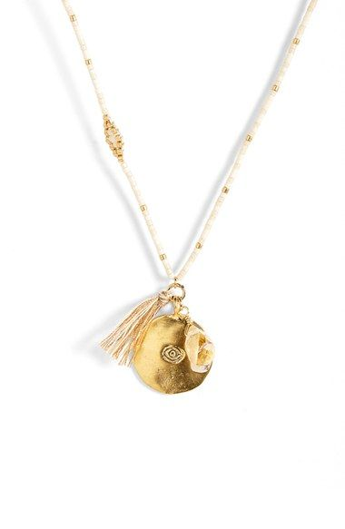 Chan Luu Beaded Pendant Necklace available at #Nordstrom