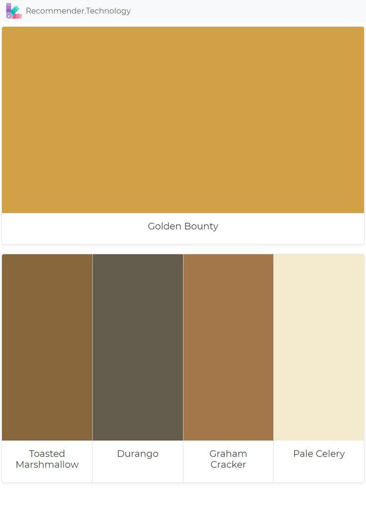 Golden Bounty Toasted Marshmallow Durango Graham Cracker Pale Celery Perfect Paint Color Paint Color Palettes Paint Colors Benjamin Moore
