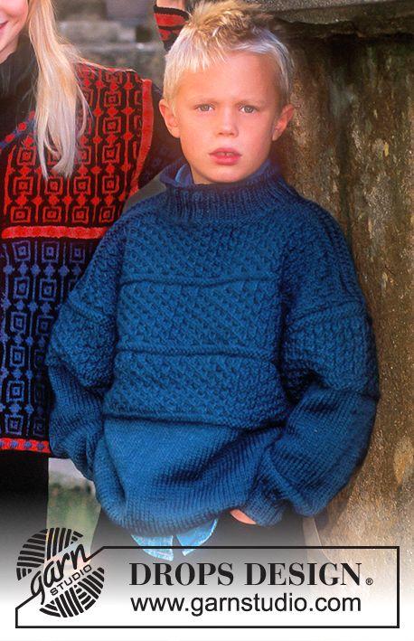 DROPS Children 7-5 - Sweater in Alaska - Free pattern by DROPS Design