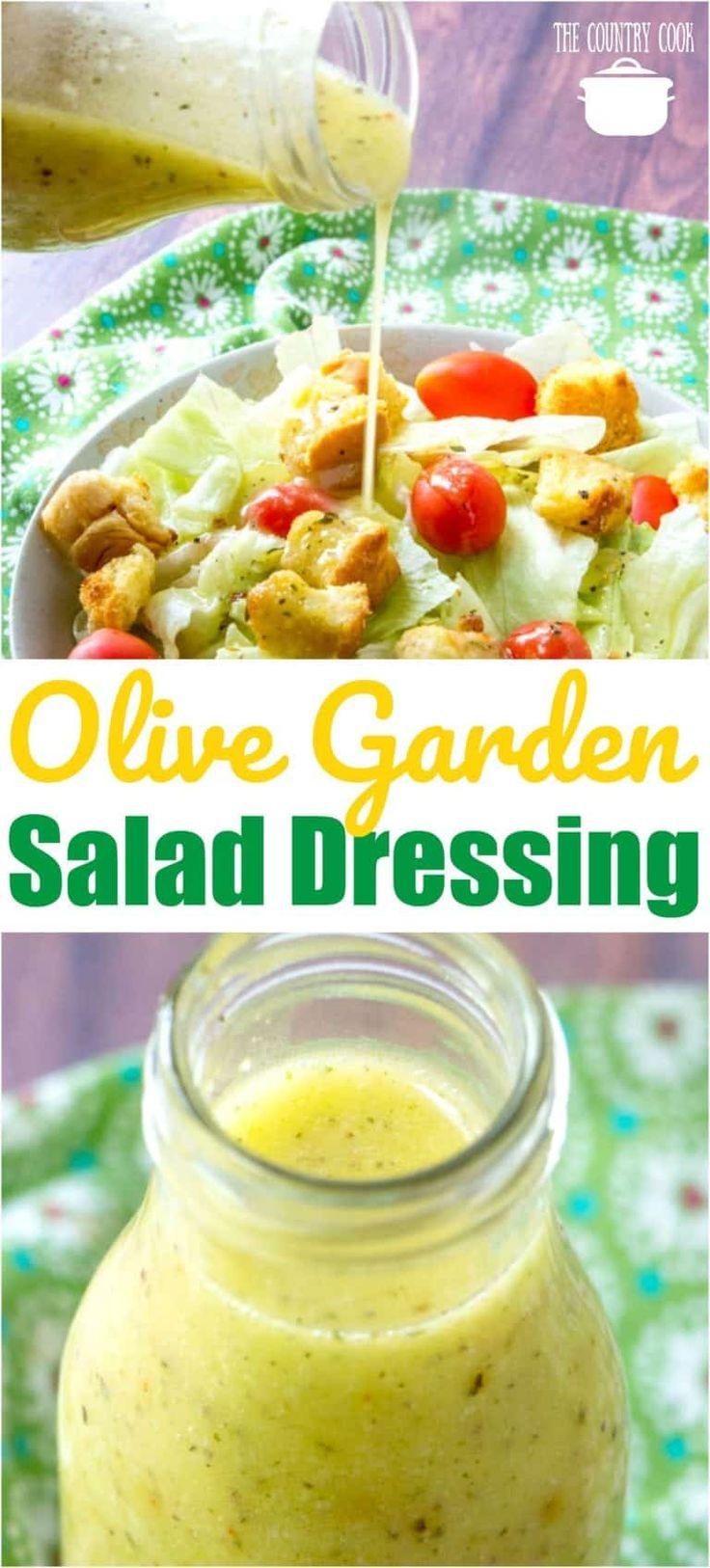 Hausgemachte Nachahmer Olive Garden Salad Dressing Rezept von The Country Cook #salad …   – Recipes