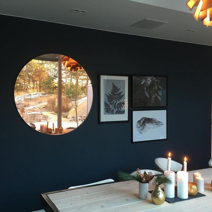 AYTM Circum large mirror in rose colour: Blue✔️ Ny vegg og nytt speil #lagentur #blue #decoblue #wall#mirror #disdesign #aytm #magdalenatyboni #pernillefolcarelli #hildemork #jotun Photo: lagentur_lena