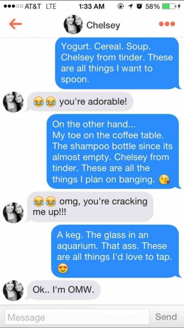 Tinder first lines