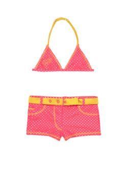 Bikini met goudkleurige stippen
