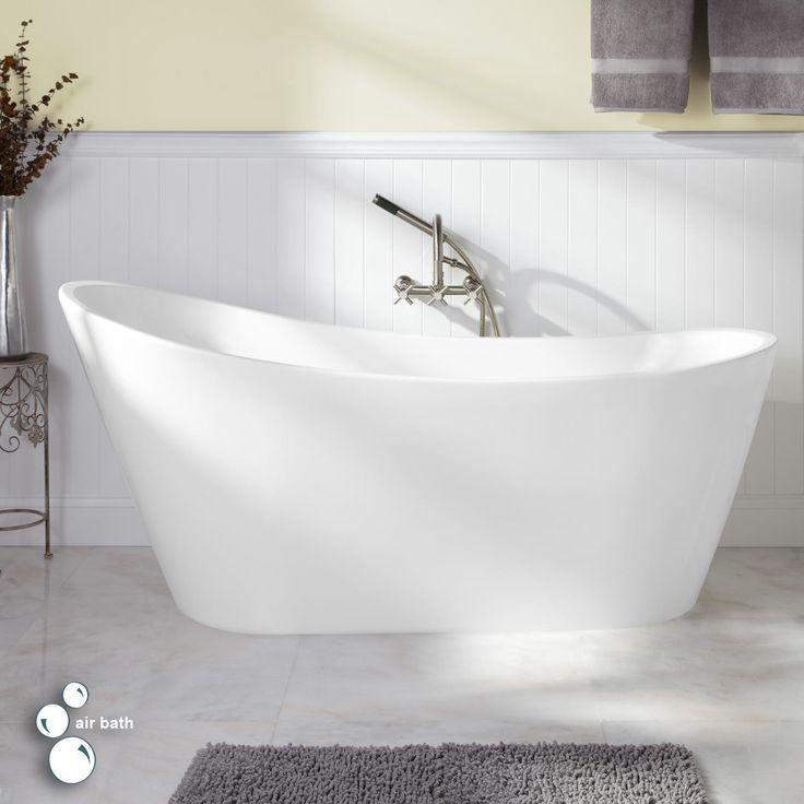 Freestanding Tub Bathroom Design : Quot arcola acrylic freestanding air tub bathroom