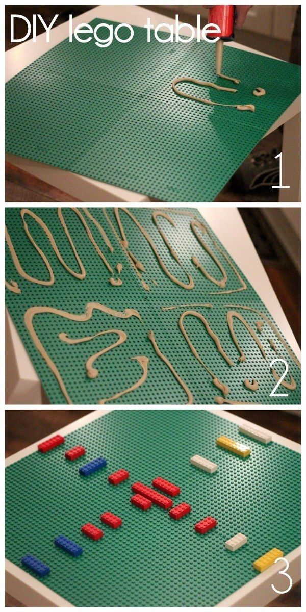 Transform an ordinary LACK table into a lego table.