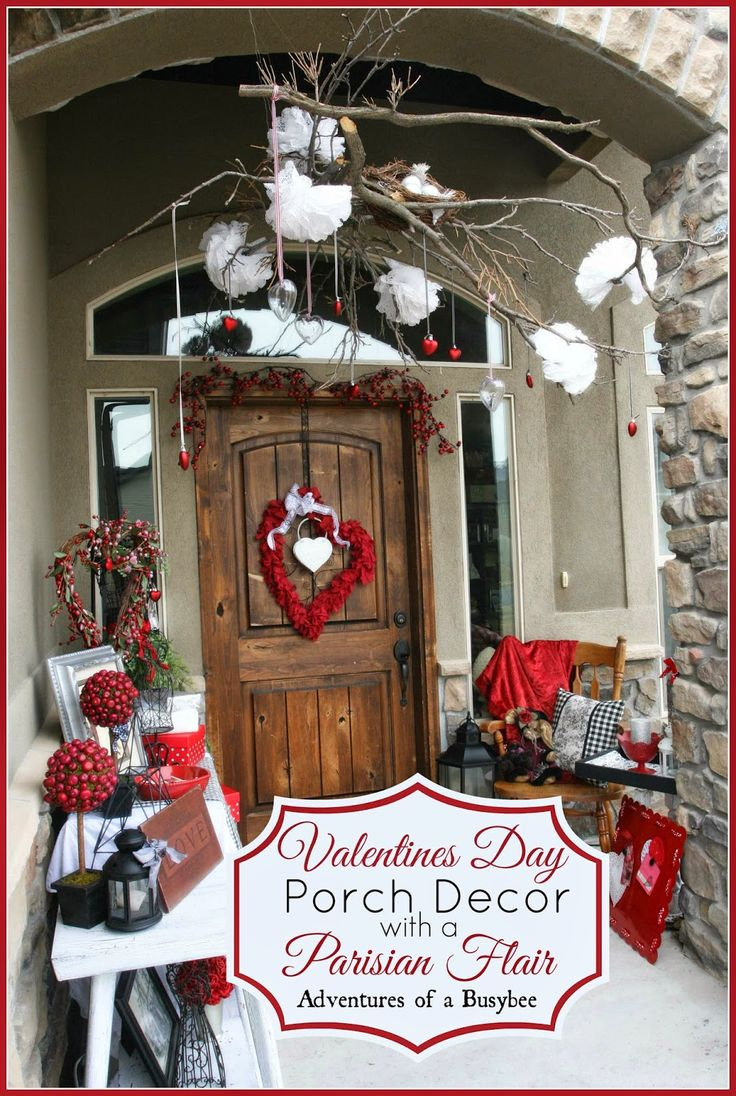 Valentines Porch Decor Parisian Style Christmas Door