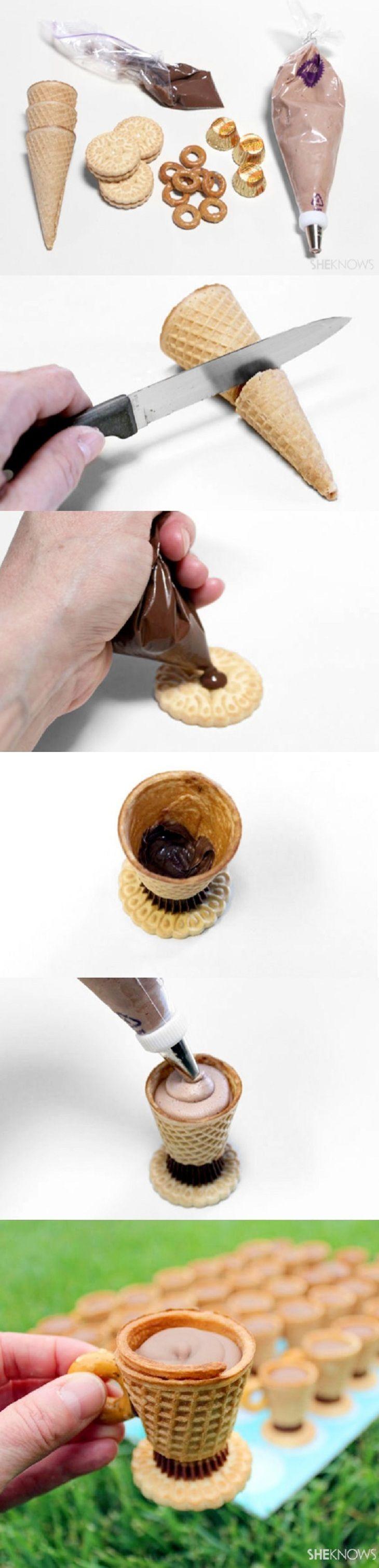 DIY Tea Party Teacup Cookie Cups