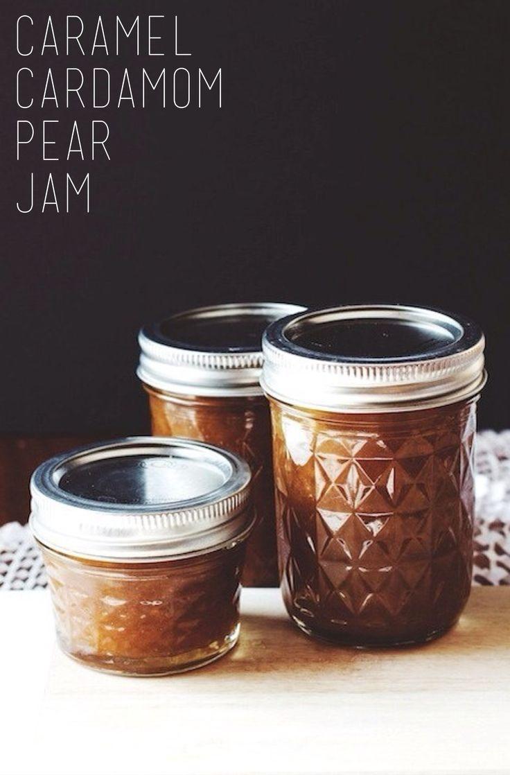 Caramel Cardamom Pear Jam | Pear jam, Yogurt and Jam recipes