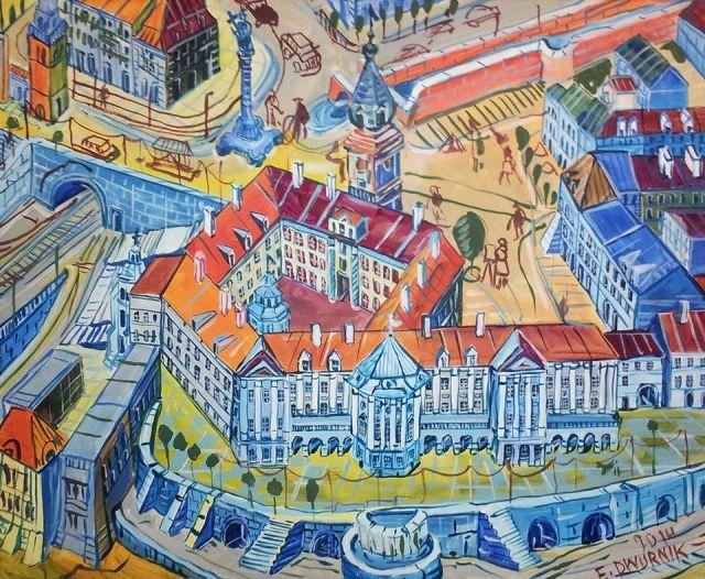 ArtGalery ° PERSONALART.PL, tytuł: Zamek autor: Edward Dwurnik personalart.pl/Edward-Dwurnik