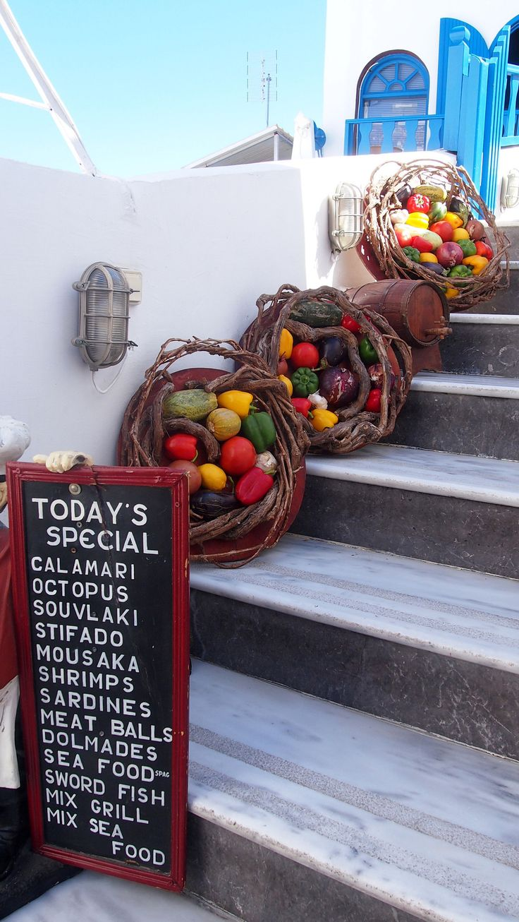 Santorini, Greece - Food - Yet another good reason to travel to Santorini…