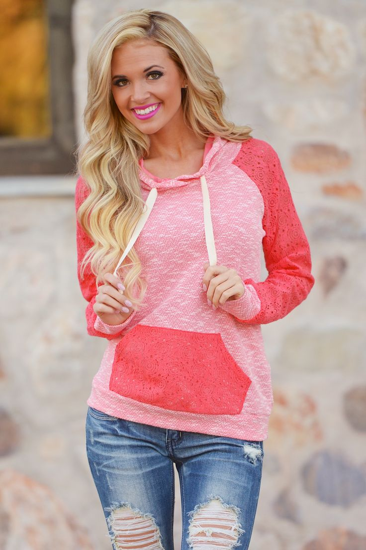 Down To Earth Hoodie - Coral from Closet Candy Boutique