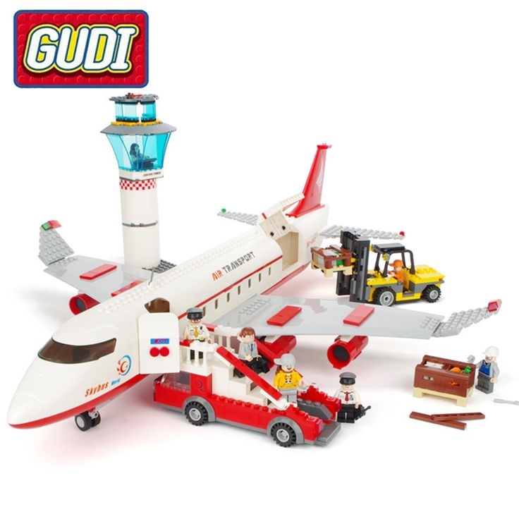 GUDI Large Passenger Aircraft Building Blocks Aerospace series 856pcs/Sets Assemble Bricks Toys Kids Christmas Gifts #Affiliate
