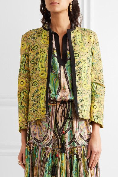 Etro - Reversible Printed Crinkled-satin Jacket - Black - IT38