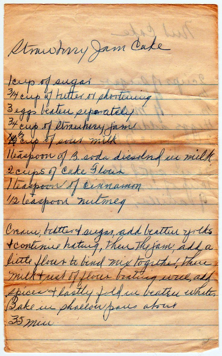 Sometimes called Kentucky Jam Cake. This recipe seems to date to around the 1930s, influenced by the spice cakes of the Depression, but with ingredients suggesting people had a bit more money (sinc...