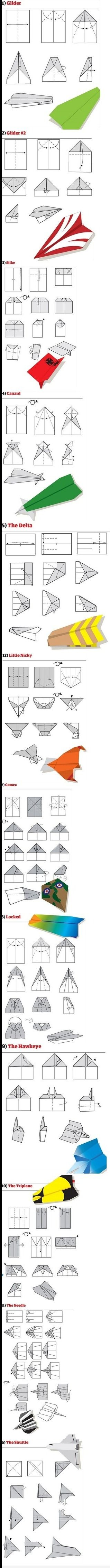Paper Airplane folds