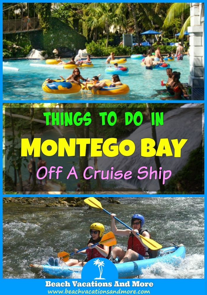 Montego Bay shore excursions off cruise port: Blue Hole and Secret Falls, Dunn's River, Grand Palladium All-Inclusive Day Pass, River Rafting, Negril's Time Square, Seven-Mile Beach and more activities and attractions in Jamaica!