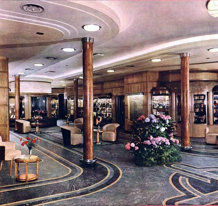 """RMS Queen Mary - """"Bond Street"""" - photograph taken in 1936."""