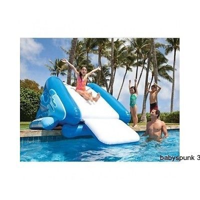 Inflatable Slide Blow Up Pool Water Kids Swimming Play