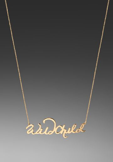 Wild Childs, wear it loud and proud. CC Skye's gold plated pendant that fuses couture and rebellious element altogether.  $123