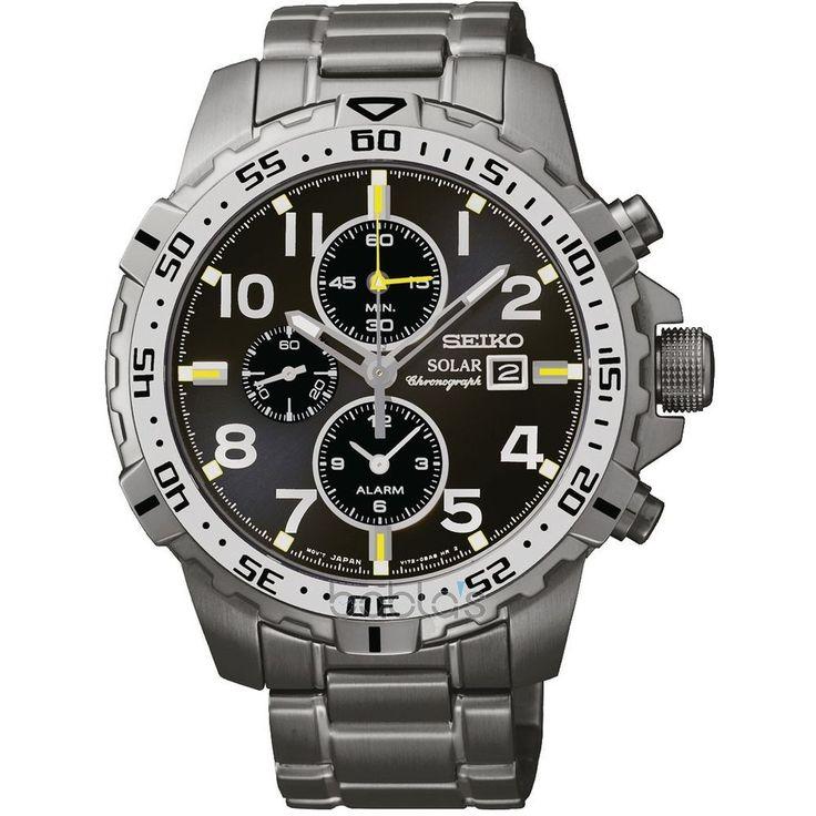 Seiko Solar Chronograph Gents Bracelet Watch Date Time Mens Wrist Watch SSC307P9 #Seiko #Luxury