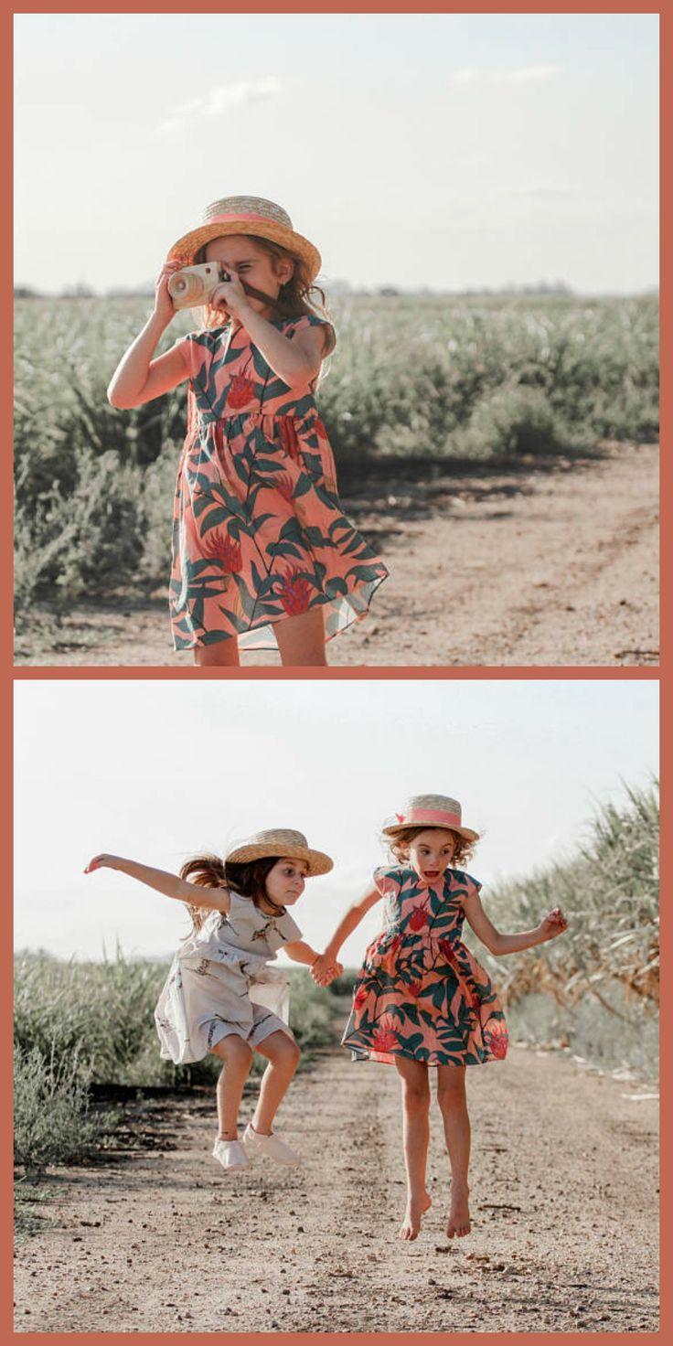 palm leaf tropical hawaiian print dress for toddler girls #toddlerfashion #affiliate