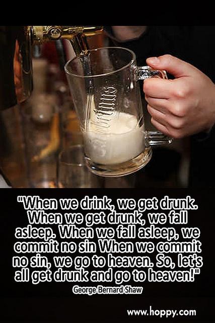 Getting drunk a sin