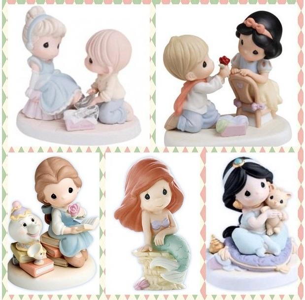 cute precious moments disney princess figurines! <3