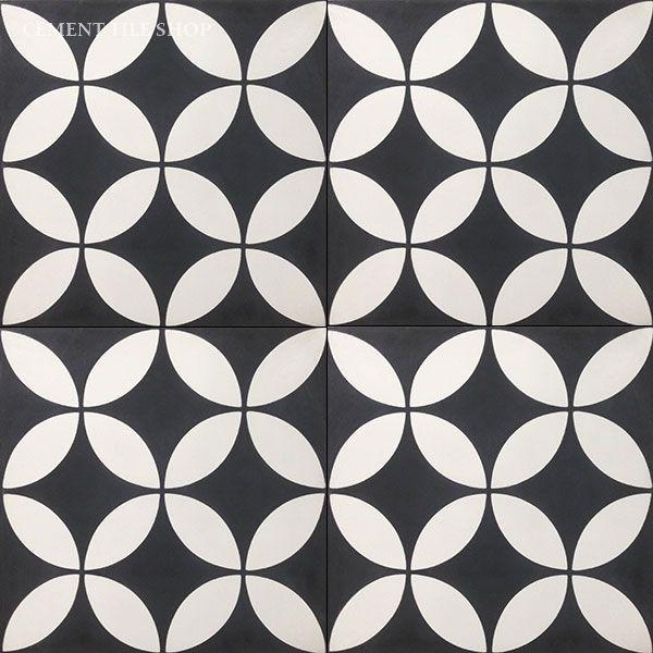 black and white tile floor texture. Cement Tile Shop  Encaustic Circulos Black 12 x 793 best material images on Pinterest Texture Architecture and
