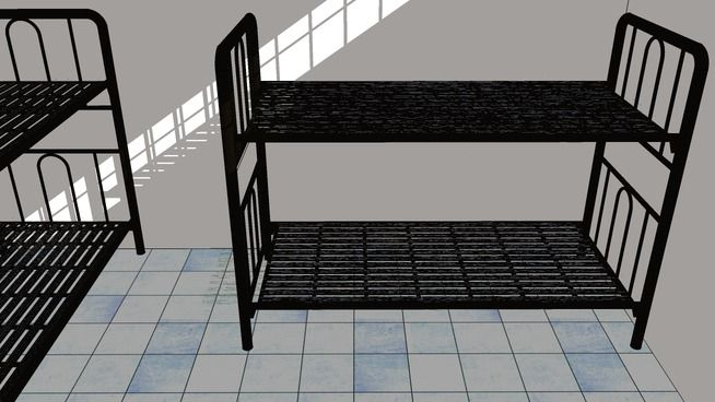 Large preview of 3D Model of bunk beds for students
