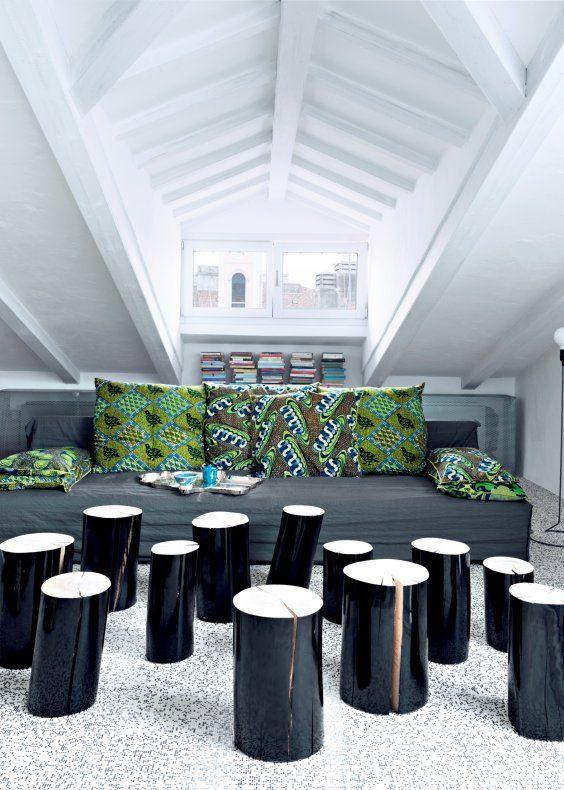 Un appartement aux couleurs métalliques - Paola Navone Marie Claire Maison