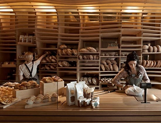 Basket bakery shop interior design for Bakery shop decoration ideas