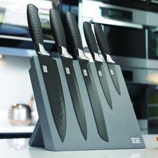 TAYLORS 5PC MAGNETIC BLK CB B/G KNIFE BLOCK SET