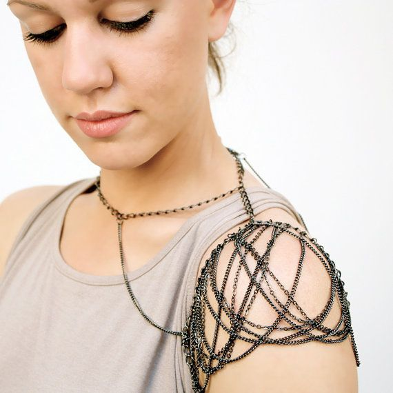 Chain Shoulder Jewelry // AILETTE Aka The Shoulder By