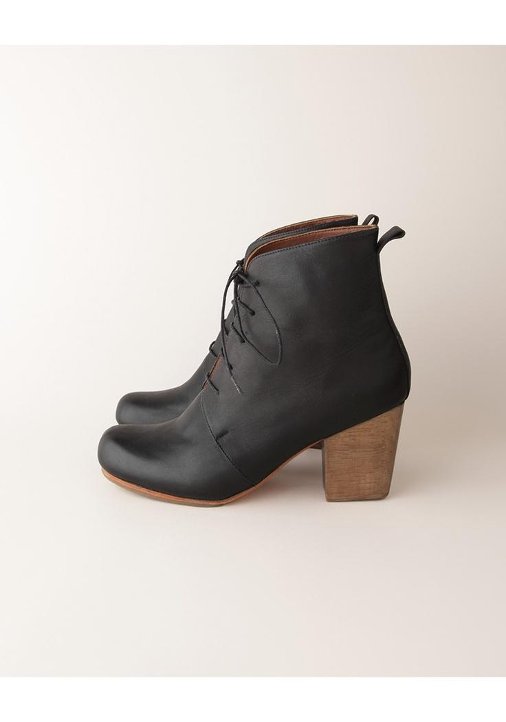 i love leather black heels