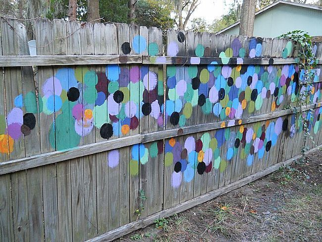 Painted fence by kris carlson tybee island georgia hmmm - How to paint a wood fence ...