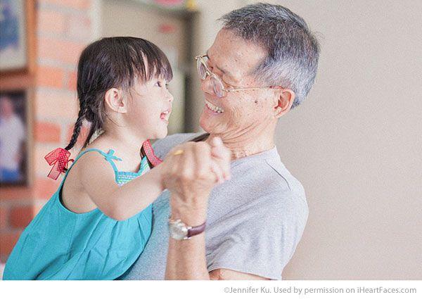 Inspiring Grandparent Photo Ideas - Portrait by Jennifer Ku via iHeartFaces.com