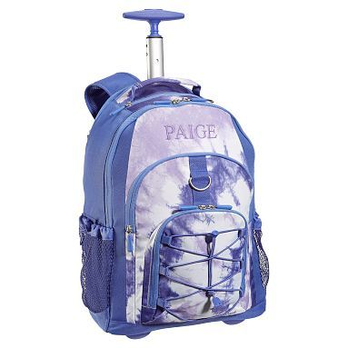 Gear Up Purple Tie Dye Rolling Backpack Westelm