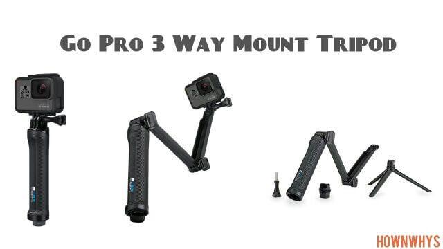 GO PRO 3 WAY MOUNT TRIPOD  3 extension tripod camera grip extension arm tripod #travel #dslr #action #camera