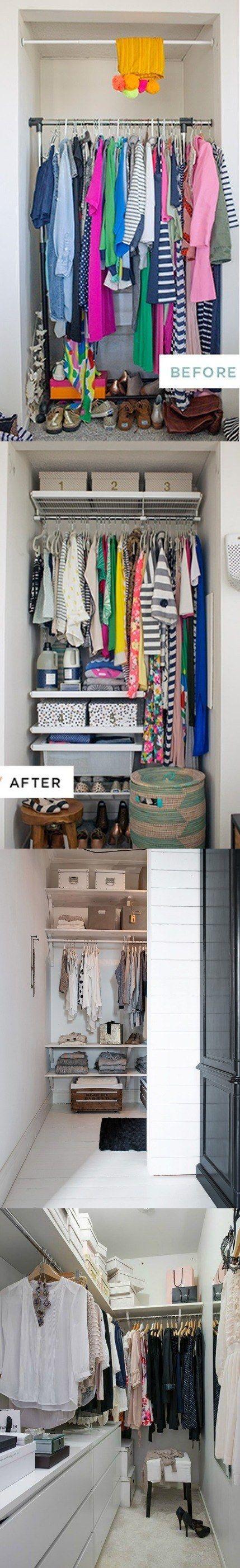 Las mejores formas de usar un armario empotrado pequeño / http://ohjoy.blogs.com/