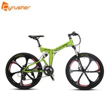 US $792.00 Cyrusher RD100 Folding Unisex Mountain Bike Bicycle Full Suspension 24 Speeds 26X17 Inch Aluminium Frame Double Disc Brakes. Aliexpress product