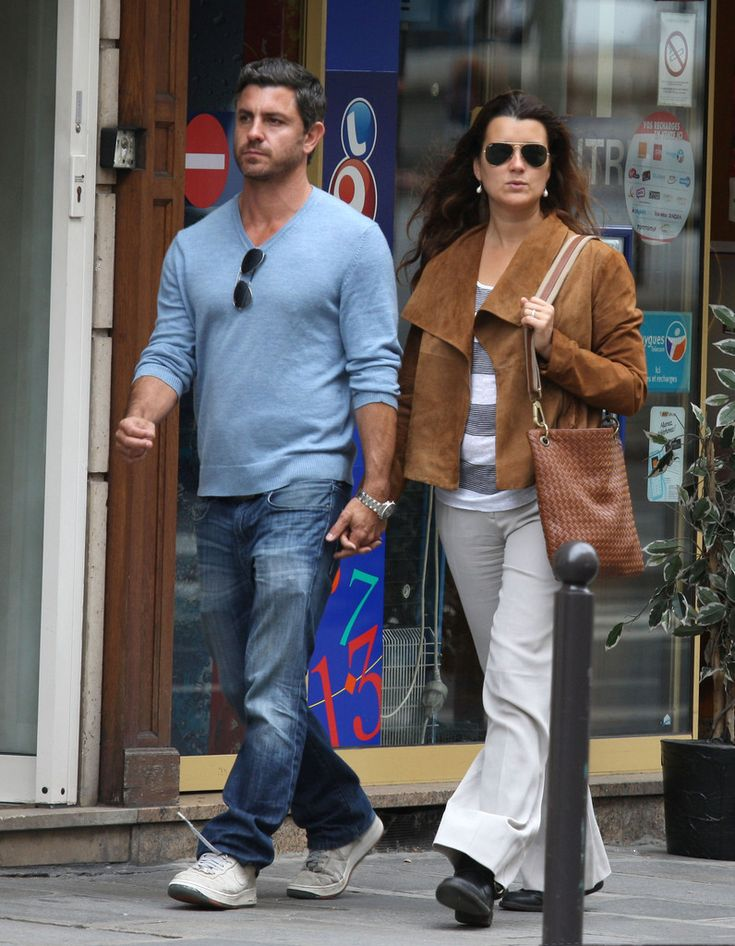 Cote de Pablo and Diego Serrano Together in Paris