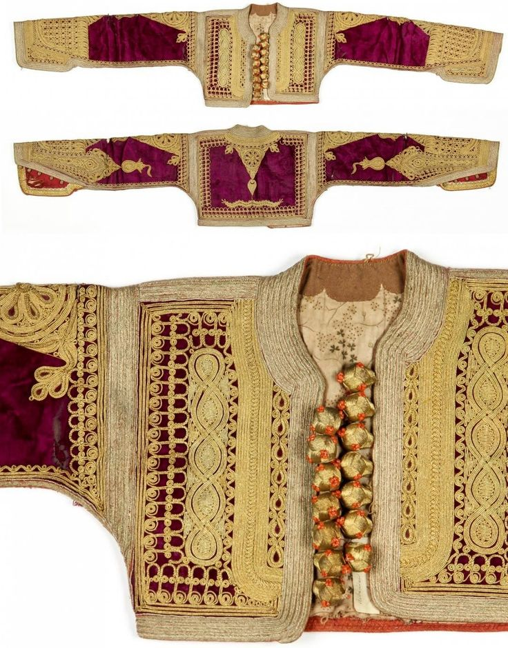 Gold embroidered velvet 'cepken' (vest).  Probably from the Balkans.  Late-Ottoman era, ca. 1900.