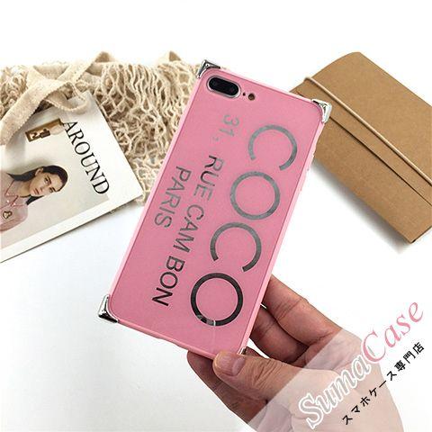 #シャネルEL シャネル ブランド iPhone8ケース COCO ココ アルファベットモチーフ ミラー シンプル ピンク系 女性向け iPhoneX iPhone7 iPhone6S/6 Plus カバー型 PCハードケース #chanel #coco #シャネル #iphone8case
