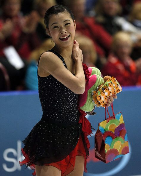 Kanako Murakami Photos - Kanako Murakami of Japan skates in the ladies free program during day two of the 2012 Skate Canada International,  ISU Grand Prix of Figure Skating at WFCU Centre on October 27, 2012 in Windsor, Canada. - 2012 Skate Canada International