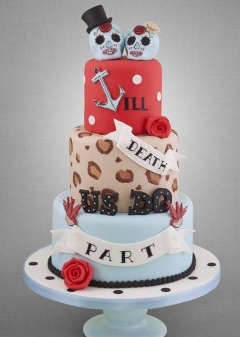 Best Rockabilly Wedding Cakes Images On Pinterest Rockabilly - Rockabilly birthday cake