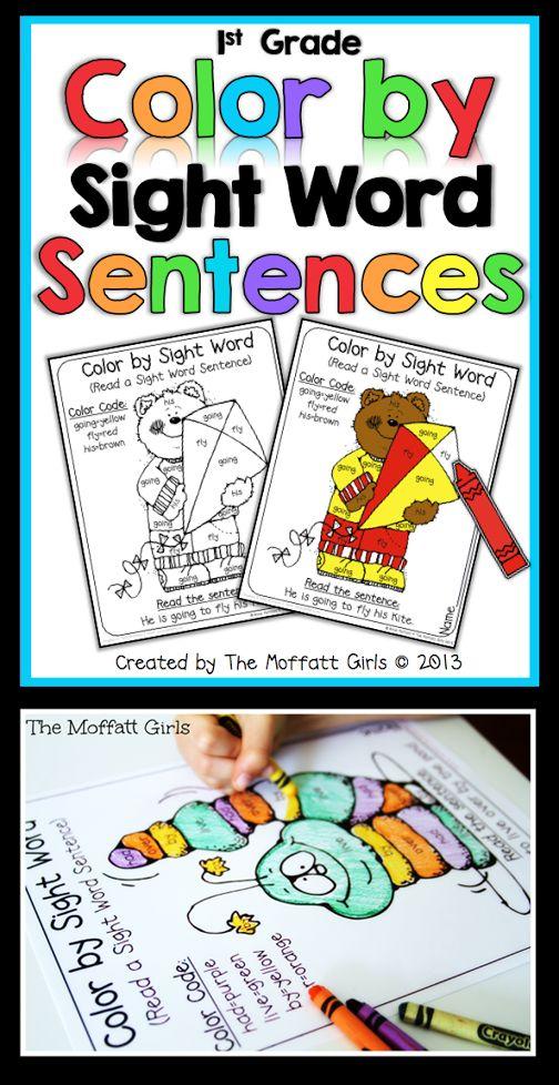 Color by Sight Word Sentences #TpT