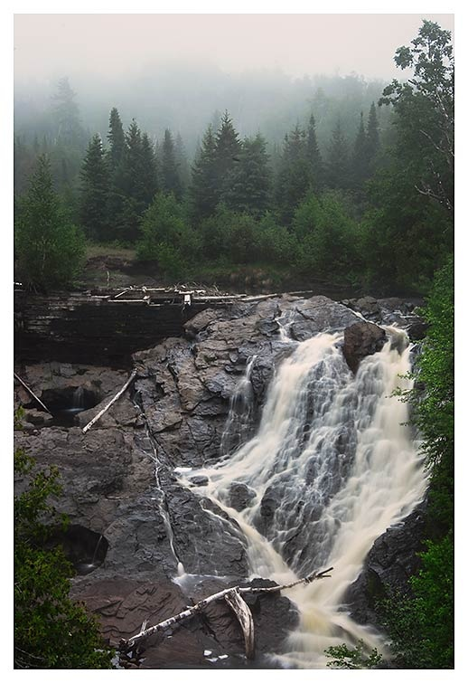 Eagle River Falls in the Keweenaw Peninsula
